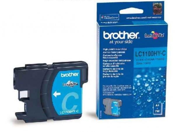 Brother LC1100HY-C Tintapatron - Ink Cartridge 0,75K cián (kék), eredeti
