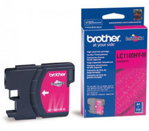 Brother LC1100HY-M Tintapatron - Ink Cartridge 0,75K magenta (bíbor), eredeti