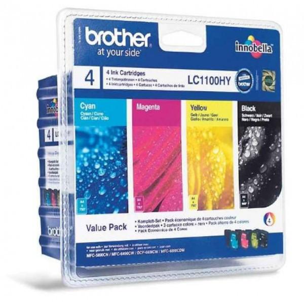 Brother LC1100HYVALBP Tintapatron 4 db-os szett - Ink Cartridge Four-Pack fekete, cián, magenta, sárga, eredeti