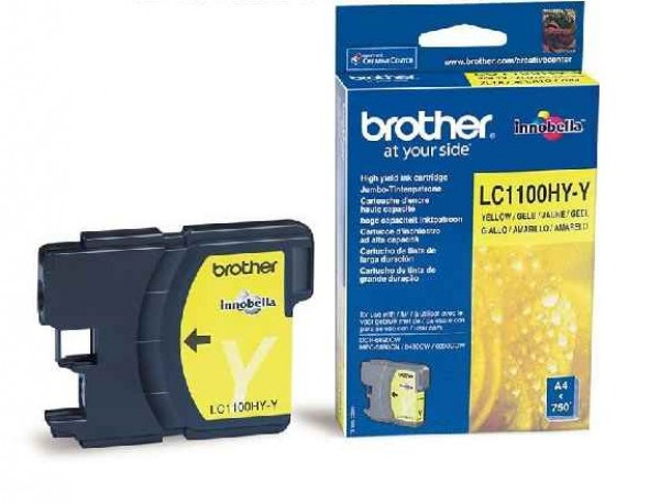 Brother LC1100HY-Y Tintapatron - Ink Cartridge 0,75K sárga (Yellow), eredeti
