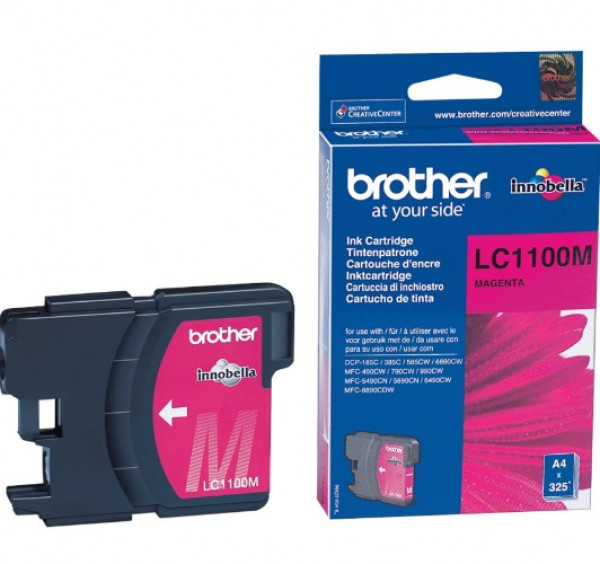 Brother LC1100-M Tintapatron - Ink Cartridge 0,325K magenta (bíbor), eredeti