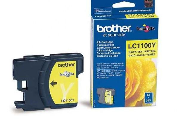 Brother LC1100-Y Tintapatron - Ink Cartridge 0,325K sárga (Yellow), eredeti