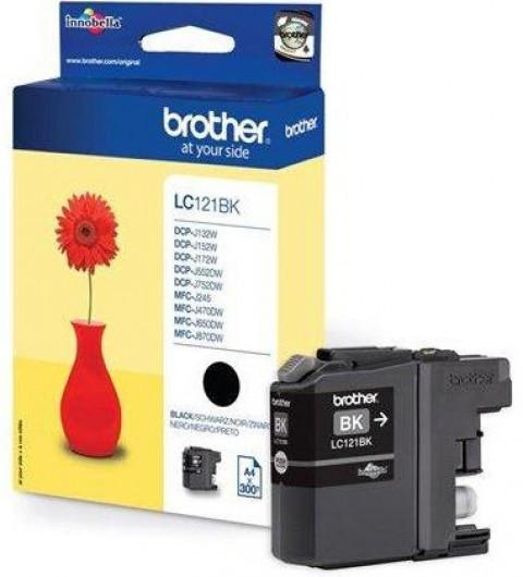Brother LC121-BK Tintapatron - Ink Cartridge 0,3K fekete (Black), eredeti