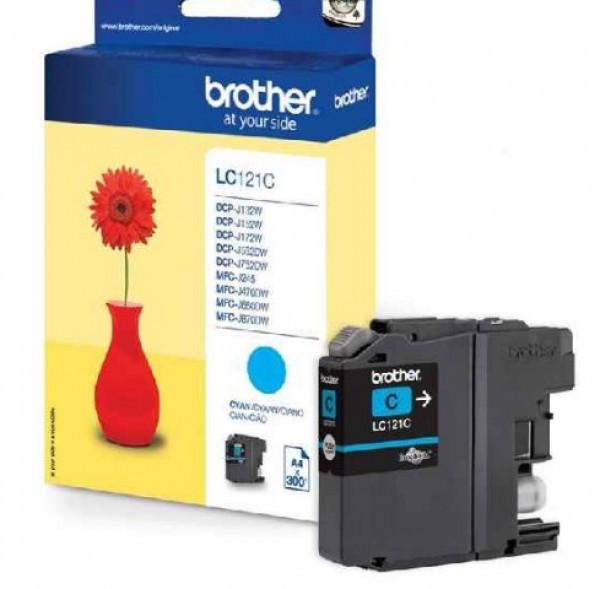 Brother LC121-C Tintapatron - Ink Cartridge 0,3K cián (kék), eredeti