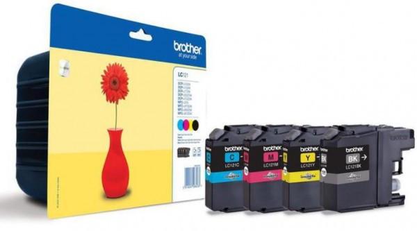 Brother LC121VALBP Tintapatron 4 db-os szett - Ink Cartridge Four-Pack cián, magenta, sárga, fekete, eredeti
