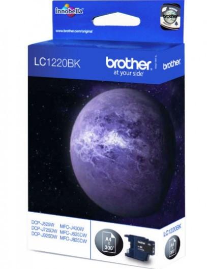 Brother LC1220-BK Tintapatron - Ink Cartridge 0,3K fekete (Black), eredeti