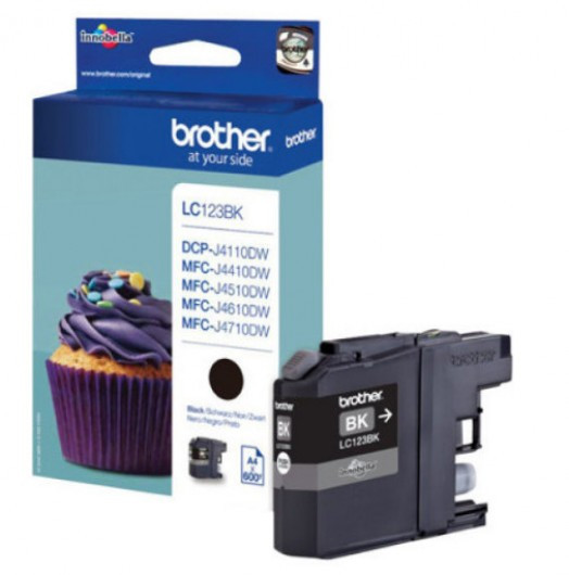 Brother LC123-BK Tintapatron - Ink Cartridge 0,6K fekete (Black), eredeti