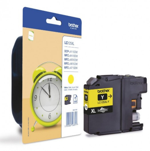 Brother LC125XL-Y Tintapatron - Ink Cartridge 1,2K sárga (Yellow), eredeti