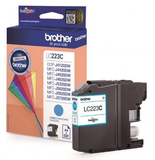 Brother LC223-C Tintapatron - Ink Cartridge 0,55K cián (kék), eredeti