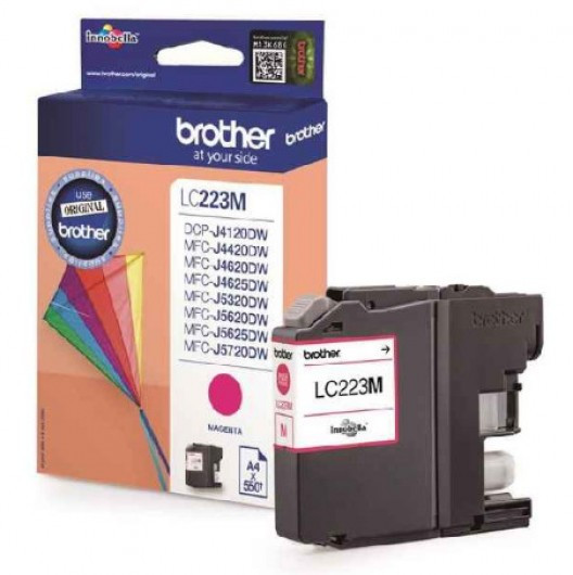 Brother LC223-M Tintapatron - Ink Cartridge 0,55K magenta (bíbor), eredeti