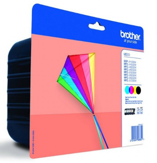 Brother LC223VALBP Tintapatron 4 db-os szett - Ink Cartridge Four-Pack fekete, cián, magenta, sárga, eredeti