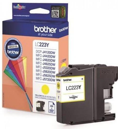 Brother LC223-Y Tintapatron - Ink Cartridge 0,55K sárga (Yellow), eredeti
