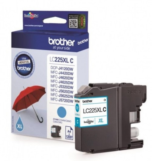Brother LC225XL-C Tintapatron - Ink Cartridge 1,2K cián (kék), eredeti