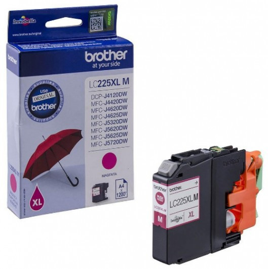 Brother LC225XL-M Tintapatron - Ink Cartridge 1,2K magenta (bíbor), eredeti
