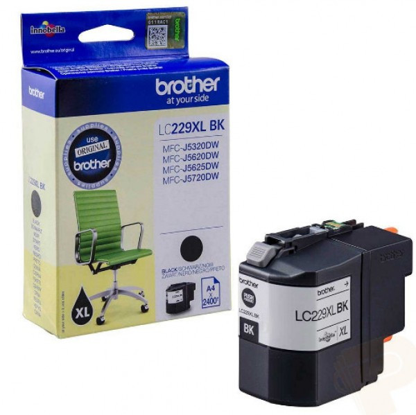 Brother LC229XL-BK Tintapatron - Ink Cartridge 2,4K fekete (Black), eredeti