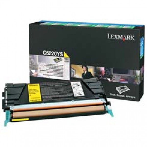 Lexmark C52x/53x Return Toner Yellow 3K (Eredeti) C5220YS