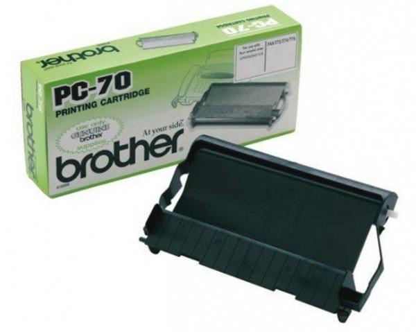Brother PC-70 Fax patron Toner+fólia - Toner & Paper 0,14K fekete (Black), eredeti