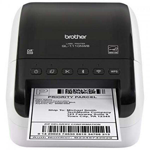Brother QL1110NWB A4, mono, tintasugaras nyomtató hálózatos, Wi-Fi-s