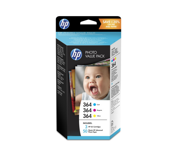 HP 364 Series Photosmart Photo Value Pack 50 sheets 10x15 cm T9D88EE (Eredeti)