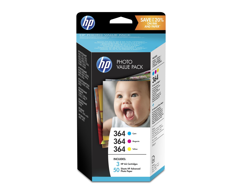 HP 364 Series Photosmart Photo Value Pack 50 sheets 10x15 cm T9D88EE (Eredeti)