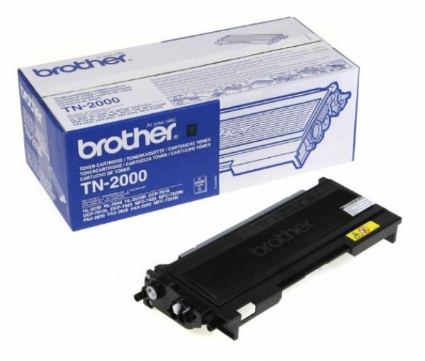 Brother TN-2000 Toner - festékkazetta 2,5K fekete (Black), eredeti