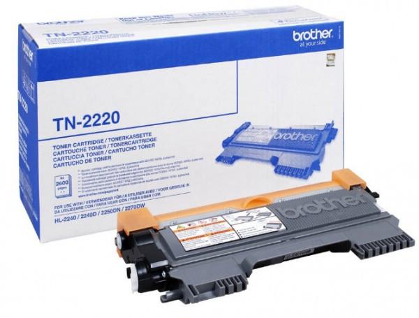 Brother TN-2220 Toner - festékkazetta 2,6K fekete (Black), eredeti