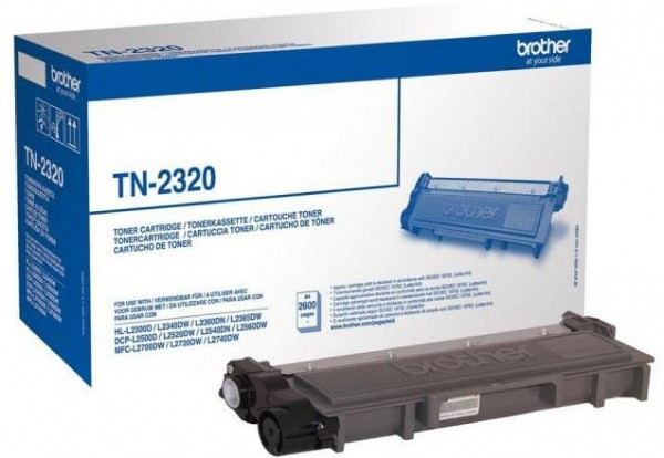 Brother TN-2320 Toner - festékkazetta 2,6K fekete (Black), eredeti
