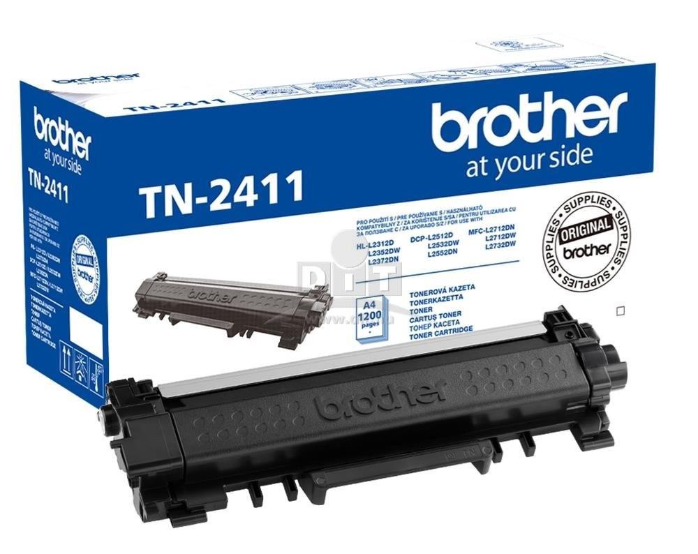 Brother TN2411 Toner - festékkazetta 1,2K Fekete (Black), eredeti