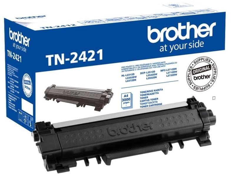 Brother TN2421 Toner - festékkazetta 3K Fekete (Black), eredeti