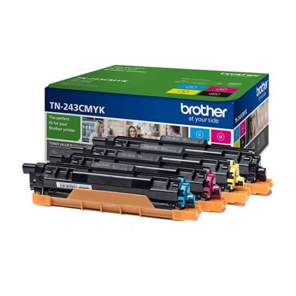 Brother TN243CMYK Toner 4 db-os szett - Toner Four-Pack 1K Fekete, cián, magenta, sárga, eredeti