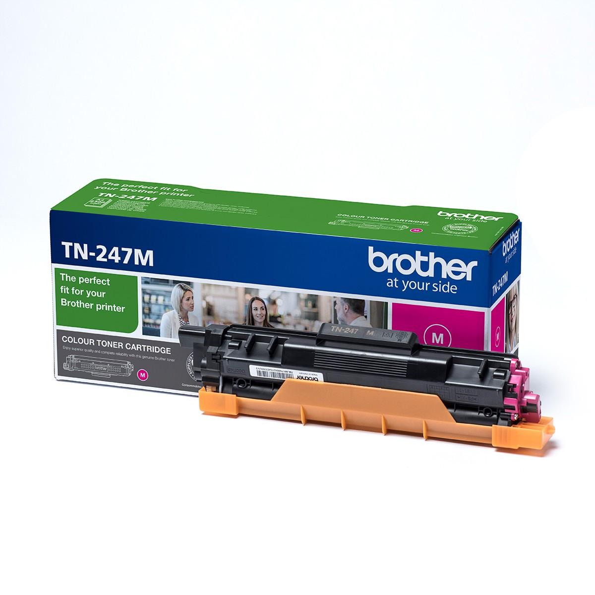 Brother TN247M Toner - festékkazetta 2,3K magenta (bíbor), eredeti