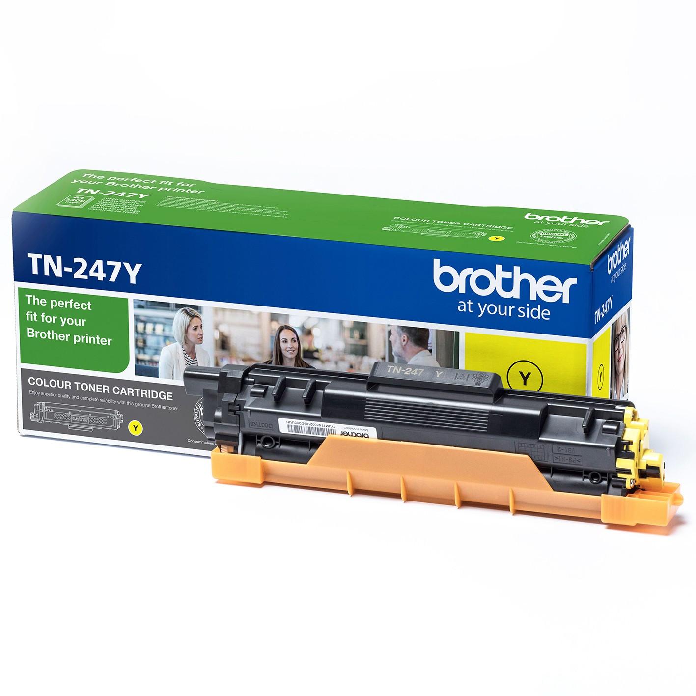 Brother TN247Y Toner - festékkazetta 2,3K sárga (Yellow), eredeti