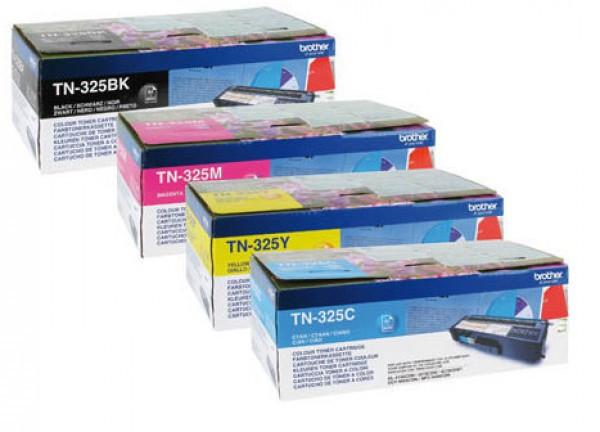 Brother TN-325C Toner - festékkazetta 3,5K cián (kék), eredeti