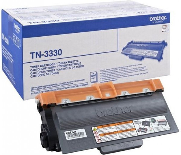Brother TN-3330 Toner - festékkazetta 3K fekete (Black), eredeti