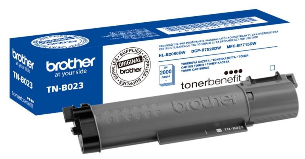 Brother TNB023 Toner - festékkazetta 2K Fekete (Black), eredeti