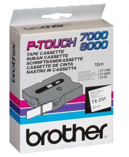 Brother TX251 Festékszalag - ribbon fehér, fekete, eredeti