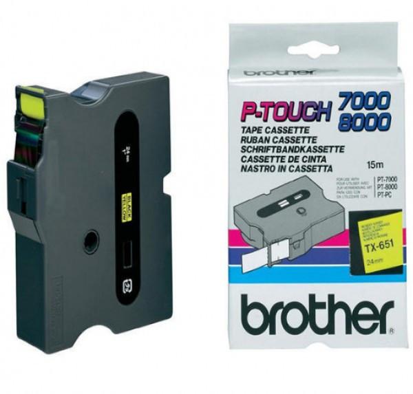 Brother TX651 Festékszalag - ribbon sárga, fekete, eredeti