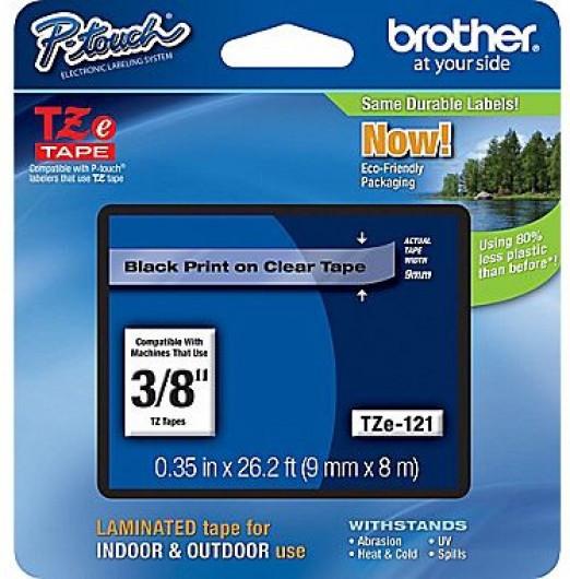 Brother TZe121 Festékszalag - ribbon átlátszó, fekete, eredeti