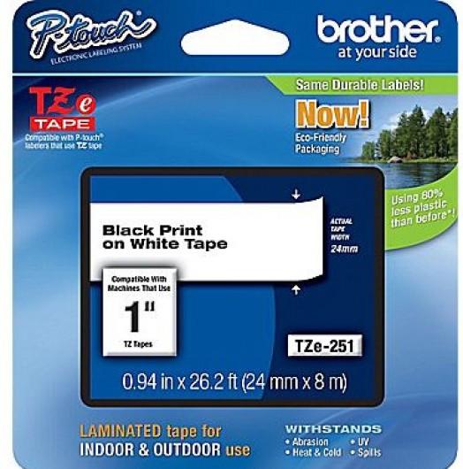 Brother TZe251 Festékszalag - ribbon fehér, fekete, eredeti