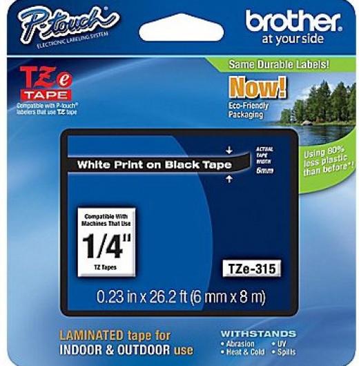 Brother TZe315 Festékszalag - ribbon fekete, fehér, eredeti