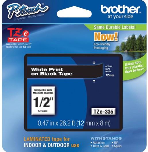 Brother TZe335 Festékszalag - ribbon fekete, fehér, eredeti