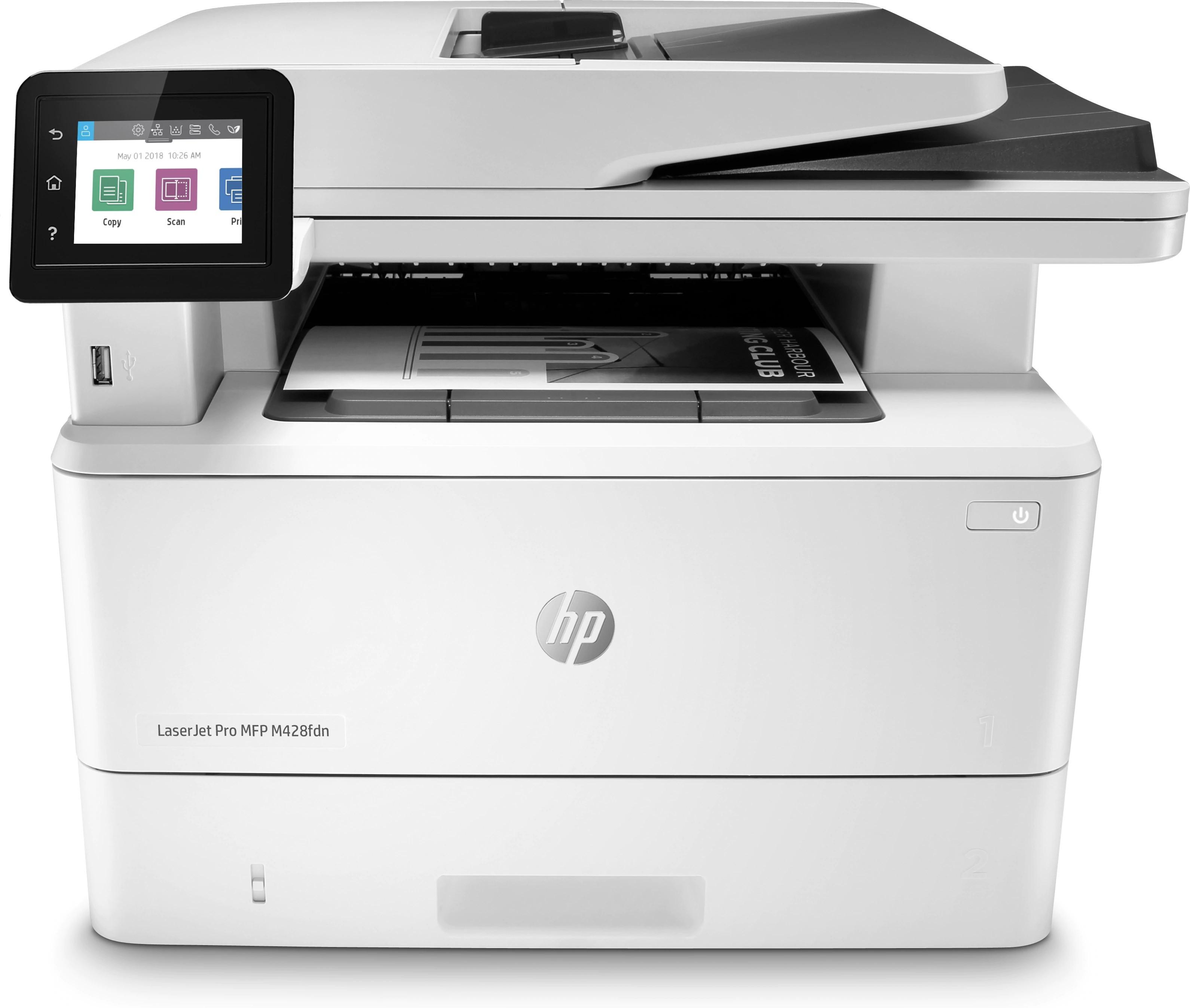 HP LaserJet Pro M428fdn A4, mono, lézer multifunkciós nyomtató hálózatos, duplex