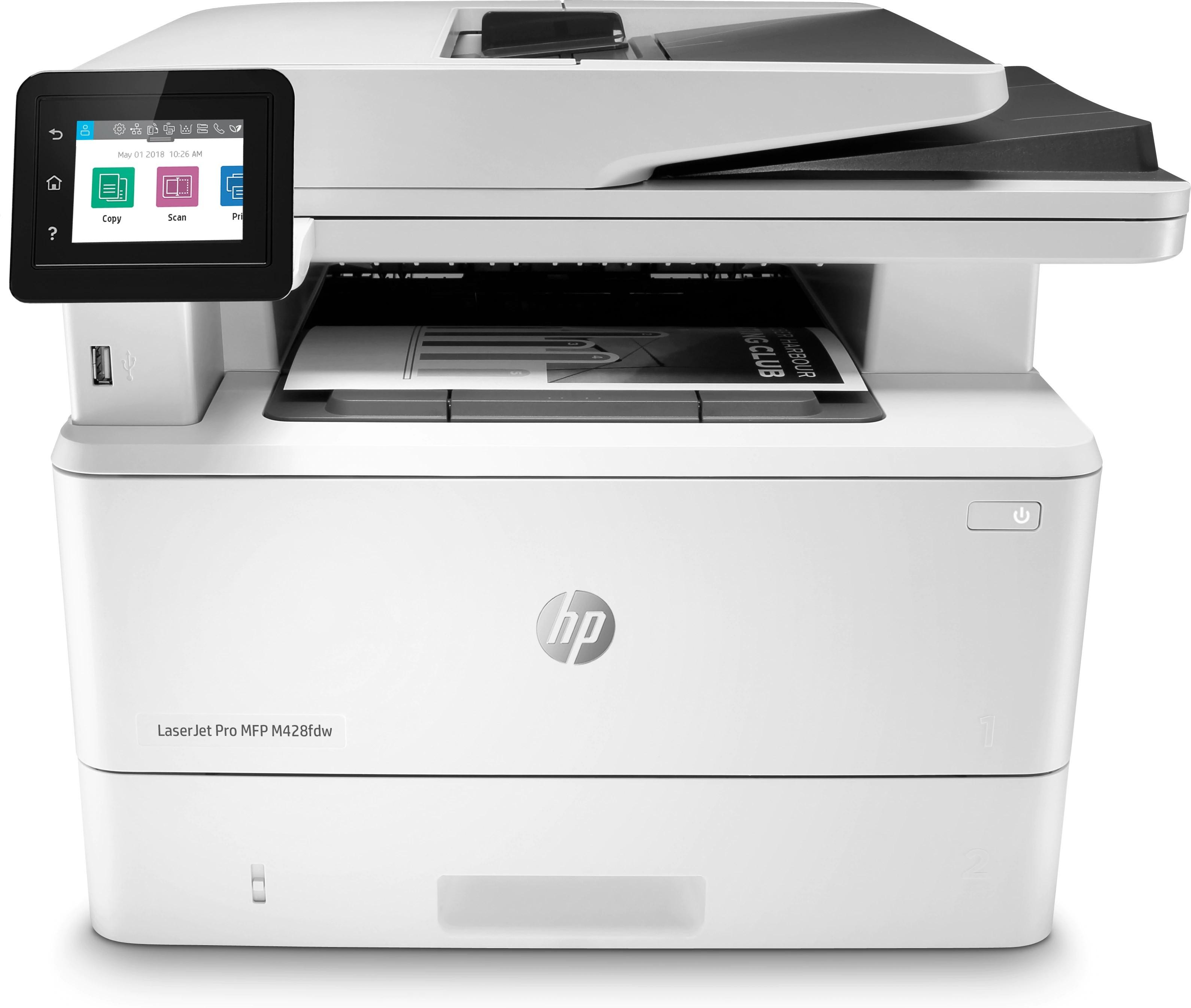 HP LaserJet Pro M428fdw A4, mono, lézer multifunkciós nyomtató hálózatos, Wi-Fi-s, duplex